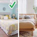 дизайн потолка маленькой спальни