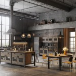 дизайн проект кухни лофт