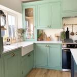дизайн проект зеленой кухни