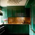дизайн серо зеленой кухни