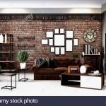 дизайн спальни гостиной в стиле лофт