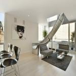 дизайн столовой гостиной в стиле лофт