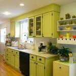 дизайн темно зеленой кухни фото
