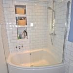 дизайн угловой ванной комнаты без туалета