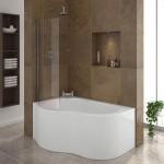 дизайн угловой ванной комнаты с туалетом