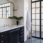 дизайн ванной комнаты белое м черным