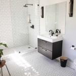 дизайн ванной комнаты черно белаЯ плитка