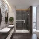 дизайн ванной комнаты душеваЯ без поддона