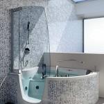 дизайн ванной комнаты элементами мозаики