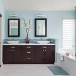 дизайн ванной комнаты плитка с угловой ванной