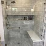 дизайн ванной комнаты с душевой светлаЯ