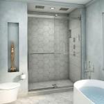 дизайн ванной комнаты с душевым углом