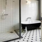 дизайн ванной комнаты с душевым уголком