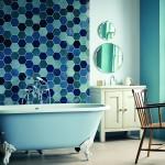 дизайн ванной комнаты с туалетом мозаикой