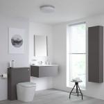 дизайн ванной комнаты с туалетом в доме