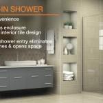 дизайн ванной комнаты со стеклЯнной душевой