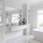 дизайн ванной комнаты в белом стиле