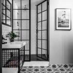 дизайн ванной комнаты в черно белом цвете