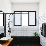 дизайн ванной комнаты в черно белых тонах