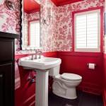 дизайн ванной комнаты в красно оранжевых тонах