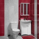 дизайн ванной комнаты в красном цвете