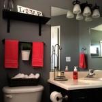 дизайн ванной красно черного цвета
