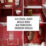 дизайн ванной красного цвета