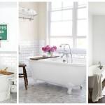 дизайн ванной под белый мрамор