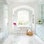 дизайн ванной серо белого цвета
