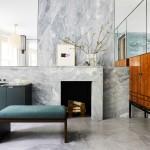 дизайн ванной в бежевых тонах современный стиль