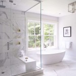 дизайн ванной в хрущевке в белом