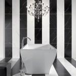 дизайн ванны черно белым