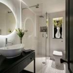 дизайн ванны плитка черно белый