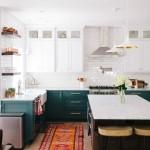 дизайн зеленой кухни стены