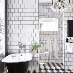 фото черно белых ванной комнаты