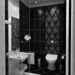 фото ванной комнаты в черно белом стиле