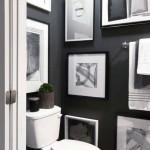 фото ванных комнат в черном белом варианте