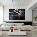 гостинаЯ в доме в стиле минимализма
