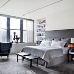 интерьер белой комнаты в современном стиле