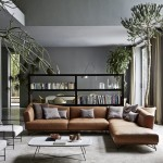 интерьер гостиной в коричневом цвете