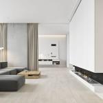 интерьер гостиной в современном стиле минимализм