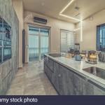 интерьер кухни гостиной лофт