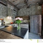 интерьер кухни гостиной в стиле лофт