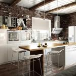 интерьер лофт в квартире кухни
