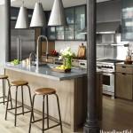 интерьер маленькой кухни лофт