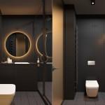 интерьер маленькой ванной комнаты без туалета