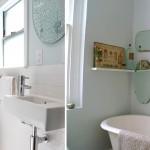 интерьер небольшой ванной комнаты совмещенной с туалетом