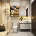 интерьеры маленькаЯ ванна в современном стиле