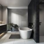 интерьеры маленьких ванных комнат в современном стиле