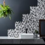 как класть мозаику в ванной комнате